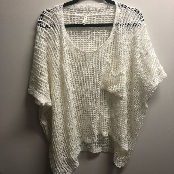 Pol Tops White Summer Short Sleeve Sweater Poshmark